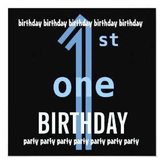 W689J azul do partido de primeiro aniversario e Convite Quadrado 13.35 X 13.35cm
