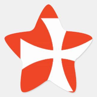 Wallis e bandeira de Futuna Adesivo Estrela