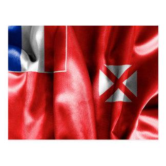 Wallis e cartão da bandeira de Futuna