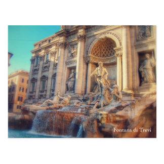 Wanderlust - fonte de Fontana di Trevi/Trevi Cartão Postal