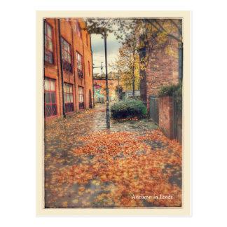 Wanderlust - outono em Leeds Cartão Postal