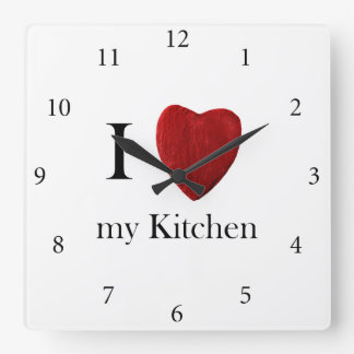 Wanduhr j Love my Kitchen Relógios De Pendurar