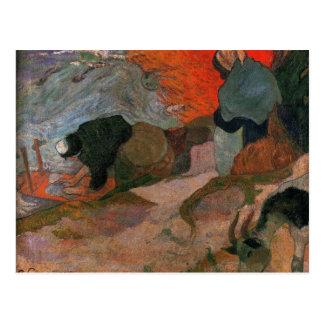 Washerwomen por Paul Gauguin Cartão Postal