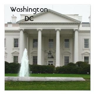 Washington DC Convite Quadrado 13.35 X 13.35cm