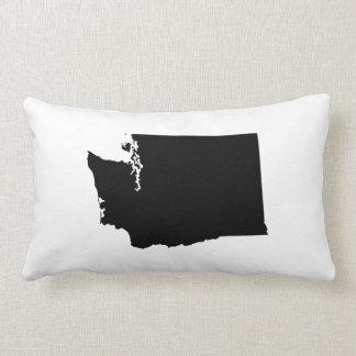 Washington em preto e branco travesseiro de decoração