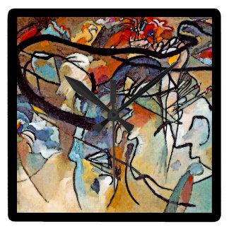 Wassily Kandinsky - arte abstracta da composição Relógio Quadrado