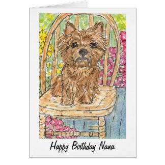 Watercolour do cartão de Nana do feliz aniversario