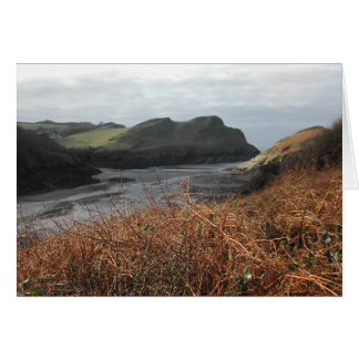 Watermouth, Devon, Reino Unido. Penhascos Cartão