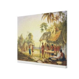 Watu Ticaba, uma vila de Wapisiana, 'das vistas em Impressão Em Canvas