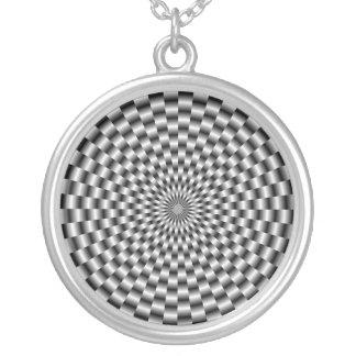 Weave circular na colar monocromática