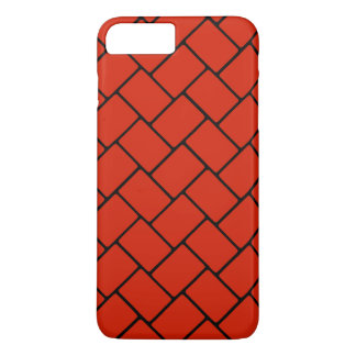 Weave de cesta carmesim 2 capa iPhone 8 plus/7 plus