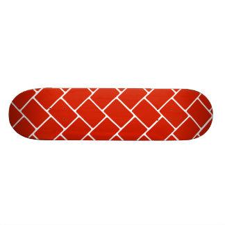 Weave de cesta carmesim shape de skate 20,6cm