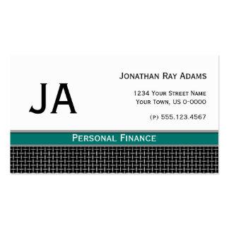 Weave preto masculino do metal da cerceta e da pra cartão de visita