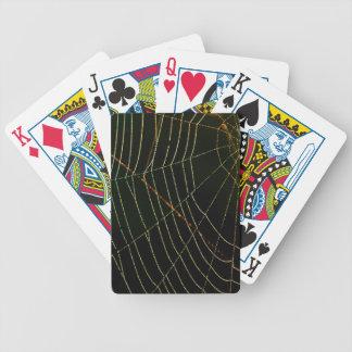 Web de aranha baralhos de pôquer