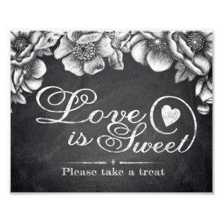 Wedding assina - o amor Floral do quadro é doce - Impressão De Foto