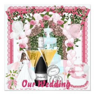 Wedding Convite Quadrado 13.35 X 13.35cm