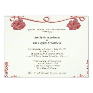 Wedding Convite 13.97 X 19.05cm