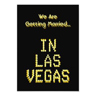 Wedding de Las Vegas. Preto e amarelo do ouro. Convite 12.7 X 17.78cm