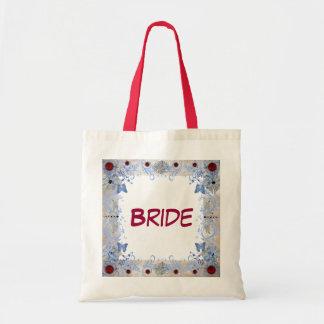 Wedding do art deco dos rubis bolsa tote