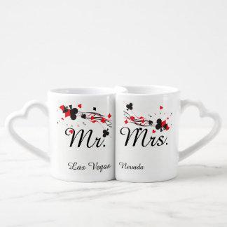 Wedding do Sr. e da Sra. Las Vegas Conjunto De Caneca De Café