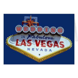 WEDDING em cartões fabulosos de Las Vegas