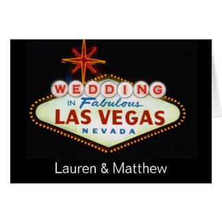 Wedding em Las Vegas fabuloso Cartão Comemorativo