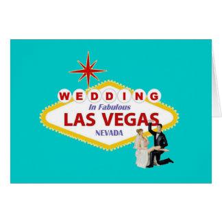 Wedding em Las Vegas fabuloso com noiva & noivo C Cartão
