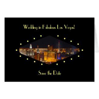 """Wedding em Las Vegas fabuloso """"economias cartão da"""