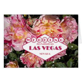WEDDING em Las Vegas fabuloso floral Cartão