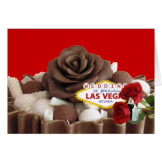 Wedding na noiva de Las Vegas & no noivo fabulosos Cartão