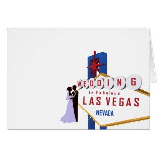 Wedding no cartão fabuloso de Las Vegas