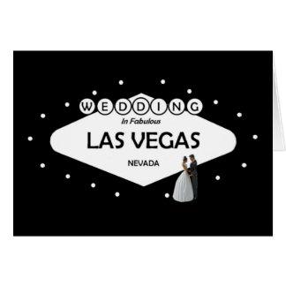 WEDDING no cartão fabuloso de Las Vegas B&G