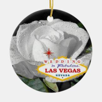 Wedding no ornamento fabuloso de Las Vegas