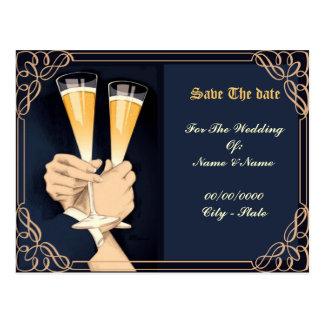 wedding, salvar a data cartões postais