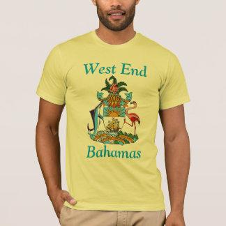 West End, Bahamas com brasão Camisetas