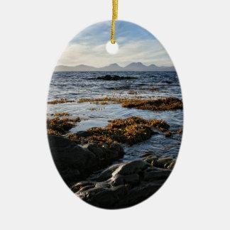 Westcoast de Scotland, ilha de Jura Ornamento De Cerâmica Oval