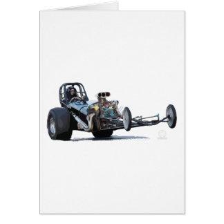 Wheelie de Dragster do estilingue do vintage Cartão