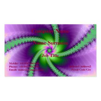 Whirligig verde e roxo cartão de visita