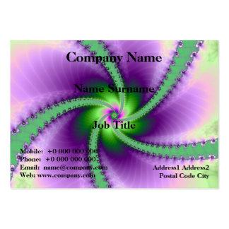 Whirligig verde e roxo cartão de visita grande