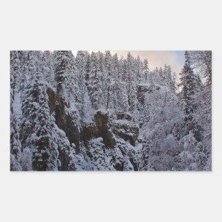 Whiteout do total da cena do inverno adesivo retangular