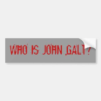 WHO É JOHN GALT? ADESIVO PARA CARRO