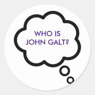 WHO É JOHN GALT? Nuvem do pensamento Adesivo