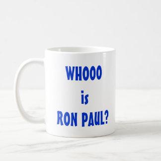 Whooo é Ron Paul? Caneca De Café