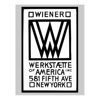 Wiener monocromático Werkstaette de América Cartão Postal
