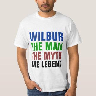 Wilbur o homem, o mito, a legenda t-shirts