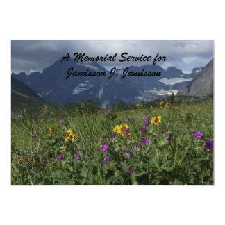 Wildflowers da montanha do convite da cerimonia