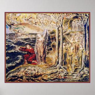 William Blake: De Antro Nympherum [caverna das nin Poster