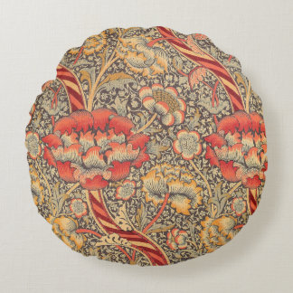 William Morris Wandle para o design de chintz Almofada Redonda