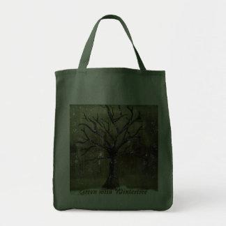 Wintertree vai saco verde bolsas de lona