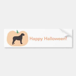 Wolfhound irlandês da abóbora feliz do Dia das Bru Adesivo Para Carro